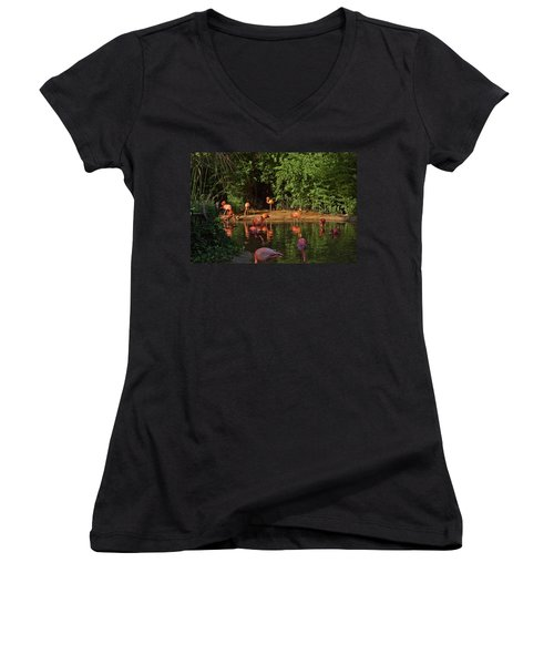 Happy Hour Women's V-Neck (Athletic Fit)