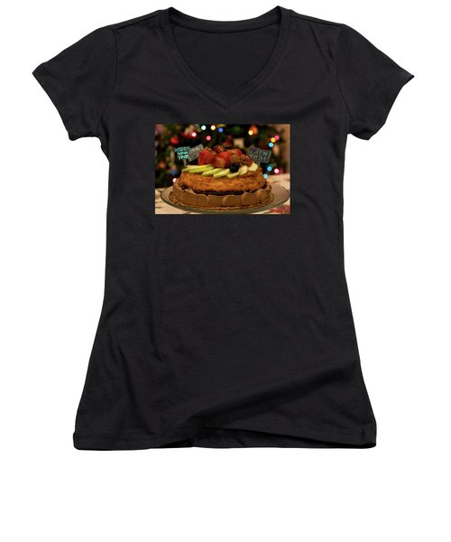 Happy New Year Women's V-Neck T-Shirt (Junior Cut) by Ivete Basso Photography
