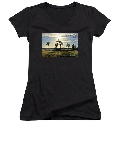 Happy New Year 2018 Women's V-Neck (Athletic Fit)