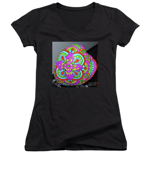 Happy Place Women's V-Neck T-Shirt