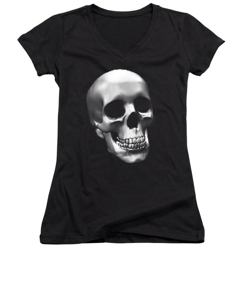 Happy Skull Women's V-Neck T-Shirt