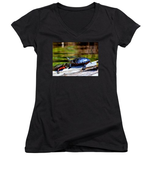 Happy Together  Women's V-Neck (Athletic Fit)