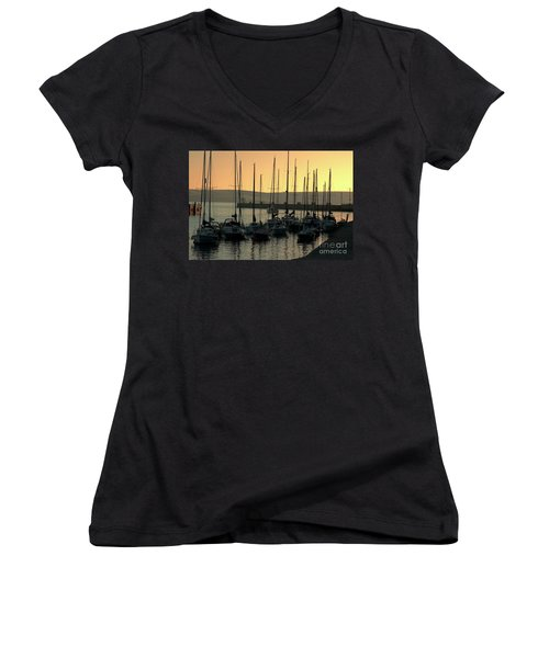Harbor Sunrise Women's V-Neck (Athletic Fit)