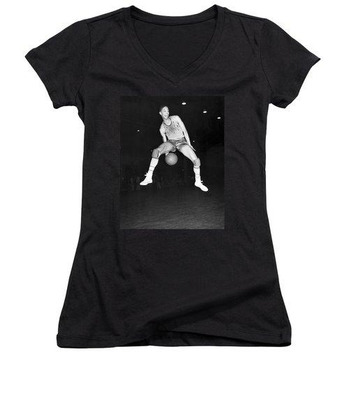 Harlem Clowns Basketball Women's V-Neck T-Shirt