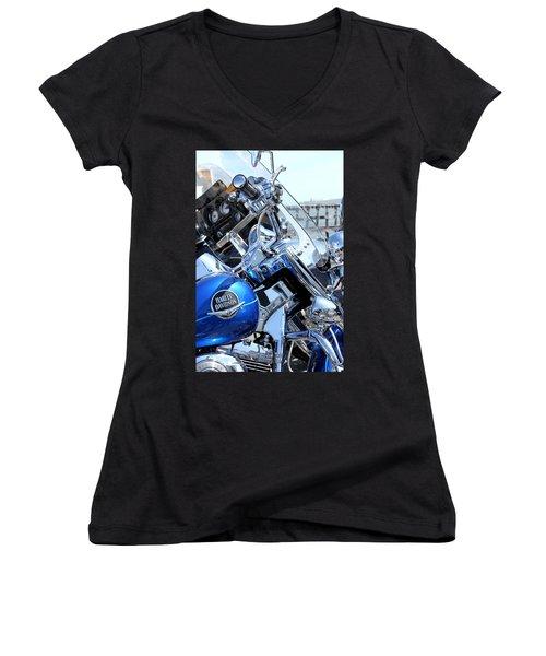 Harley-davidson Women's V-Neck T-Shirt (Junior Cut) by Valentino Visentini