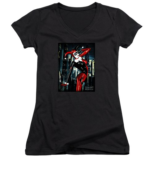 Harley Quinn Women's V-Neck T-Shirt