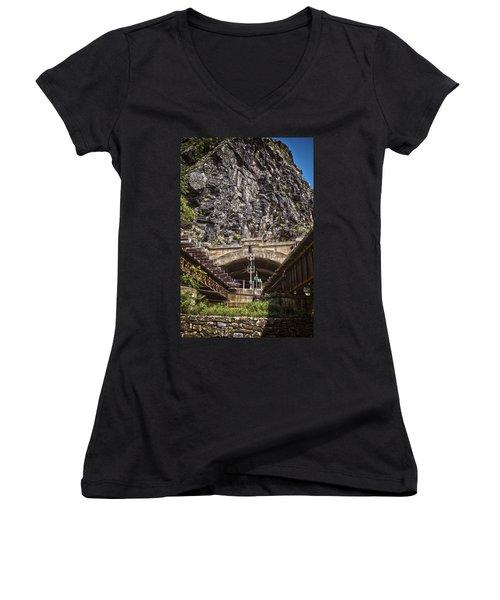 Harpers Ferry Tunnel Women's V-Neck T-Shirt