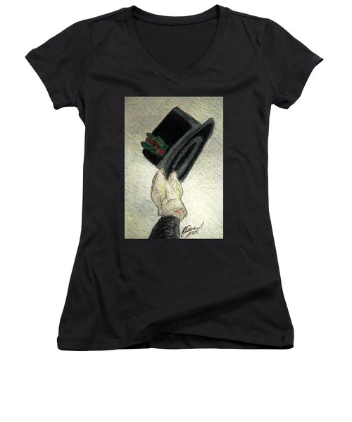 Hats Off To The Holidays Women's V-Neck