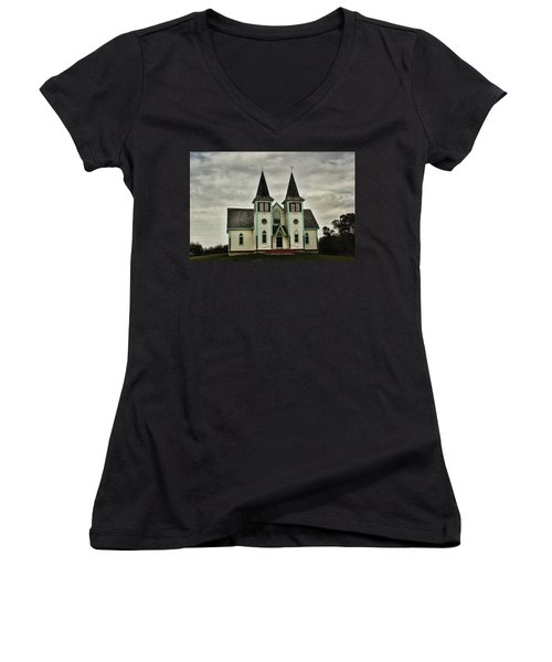 Haunted Kipling Church Women's V-Neck (Athletic Fit)