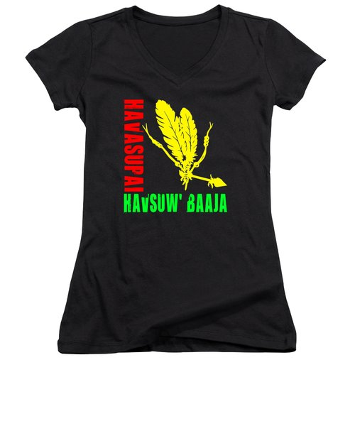 Havasupai Women's V-Neck T-Shirt (Junior Cut) by Otis Porritt