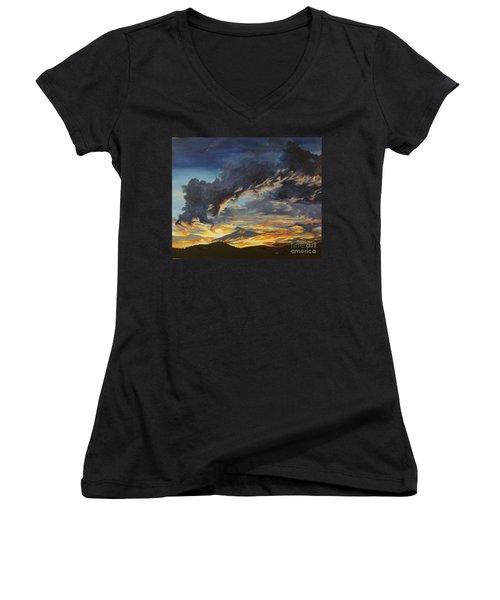 Hawcreek 7.11 Women's V-Neck T-Shirt (Junior Cut) by Stuart Engel