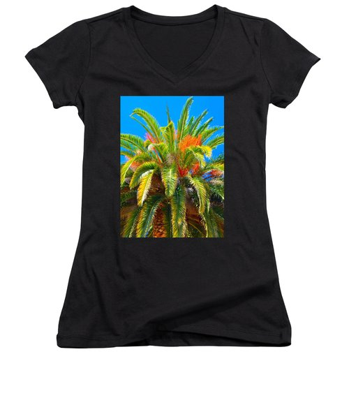 Head Dress Women's V-Neck T-Shirt (Junior Cut) by Josephine Buschman