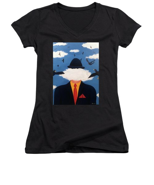 Head In The Cloud Women's V-Neck T-Shirt