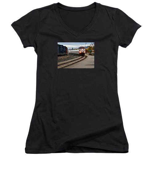 Heading For Portland Women's V-Neck T-Shirt (Junior Cut) by VLee Watson