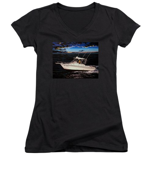 Heading Home Women's V-Neck (Athletic Fit)