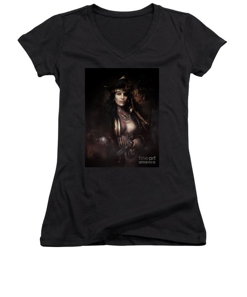 Heads You Lose Women's V-Neck T-Shirt