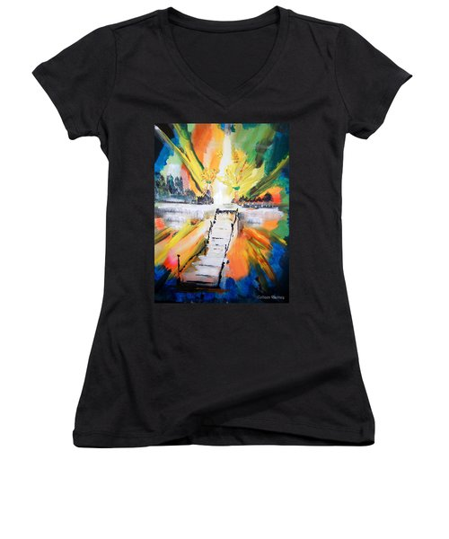 Healing Women's V-Neck (Athletic Fit)