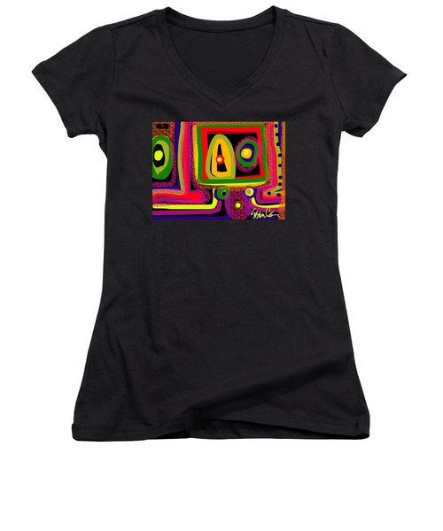 Healing Eyes Women's V-Neck T-Shirt