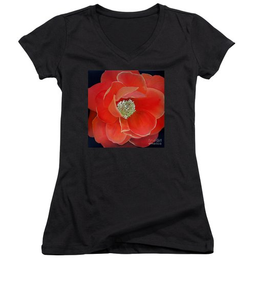 Heart-centered Rose Women's V-Neck