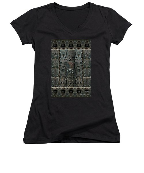 Heart Of Africa Women's V-Neck (Athletic Fit)