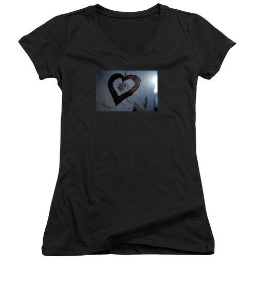 Heart With A Heart II Women's V-Neck T-Shirt
