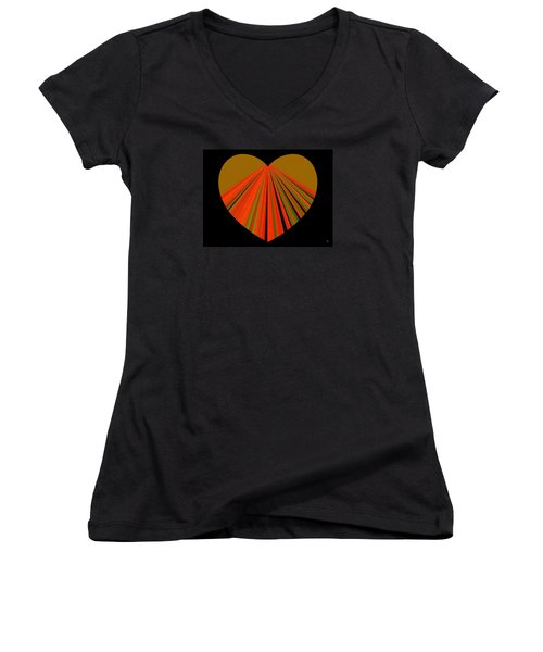 Heartline 5 Women's V-Neck T-Shirt (Junior Cut)