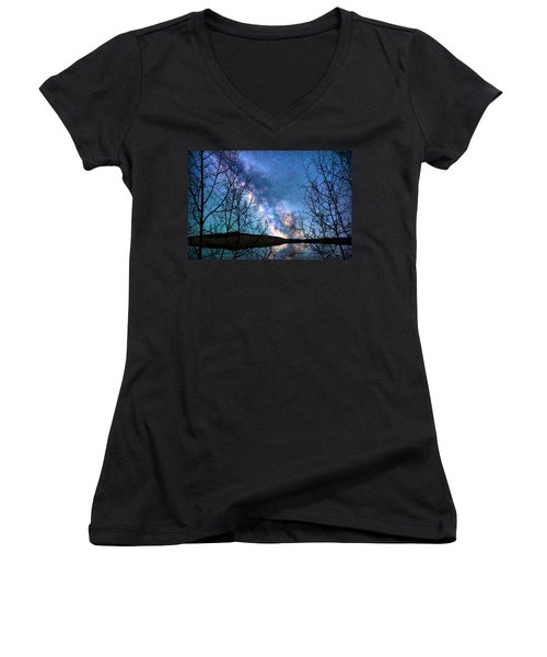 Heaven And Earth Women's V-Neck (Athletic Fit)