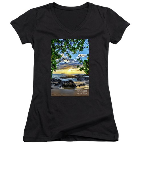 Heaven On Maui Women's V-Neck (Athletic Fit)