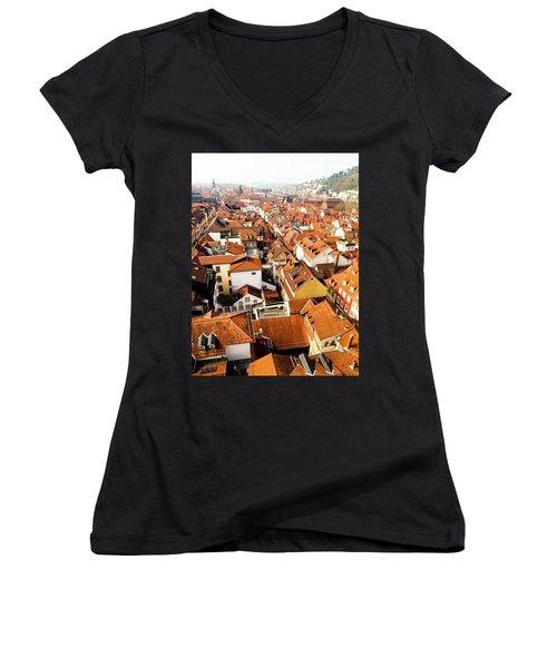 Heidelberg Cityscape Women's V-Neck T-Shirt