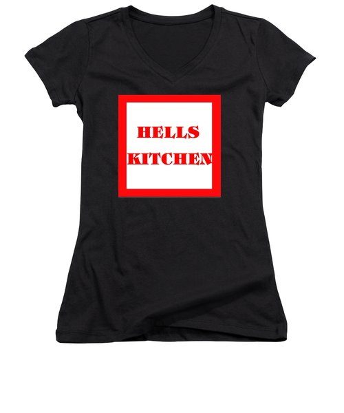 Hells Kitchen Red Women's V-Neck (Athletic Fit)