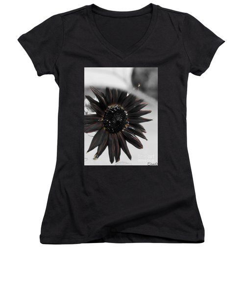 Hells Sunflower Women's V-Neck