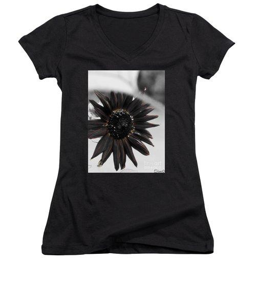 Hells Sunflower Women's V-Neck (Athletic Fit)