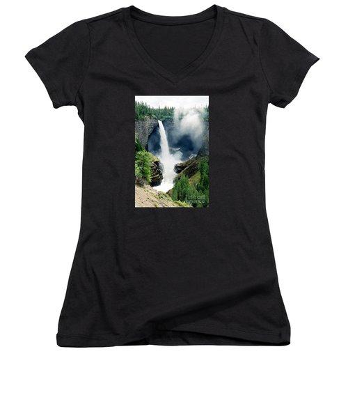 Helmken Thunder Women's V-Neck T-Shirt (Junior Cut)