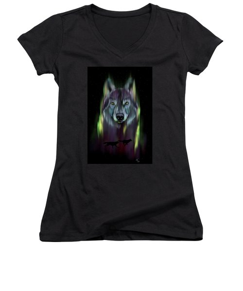 Her Eyes Were Like Twin Moons Women's V-Neck (Athletic Fit)