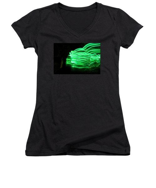 Her Spirit Lives In The Woods Women's V-Neck T-Shirt (Junior Cut) by Ellery Russell