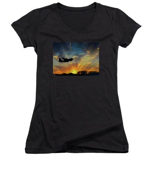 Hercules In The Morning Women's V-Neck (Athletic Fit)