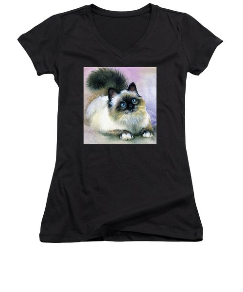 Here Kitty Women's V-Neck