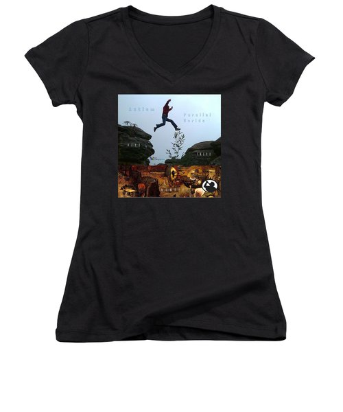Here There Nowhere Women's V-Neck (Athletic Fit)