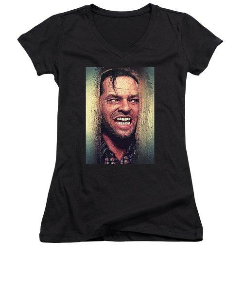 Here's Johnny - The Shining  Women's V-Neck T-Shirt