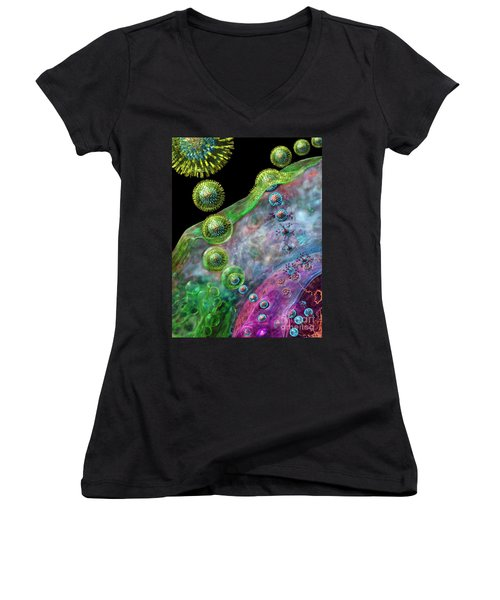 Herpes Virus Replication Women's V-Neck (Athletic Fit)