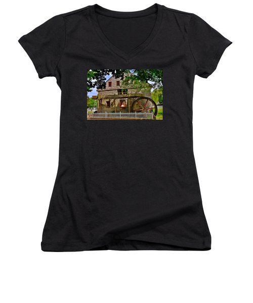 Herr's Grist Mill Women's V-Neck T-Shirt