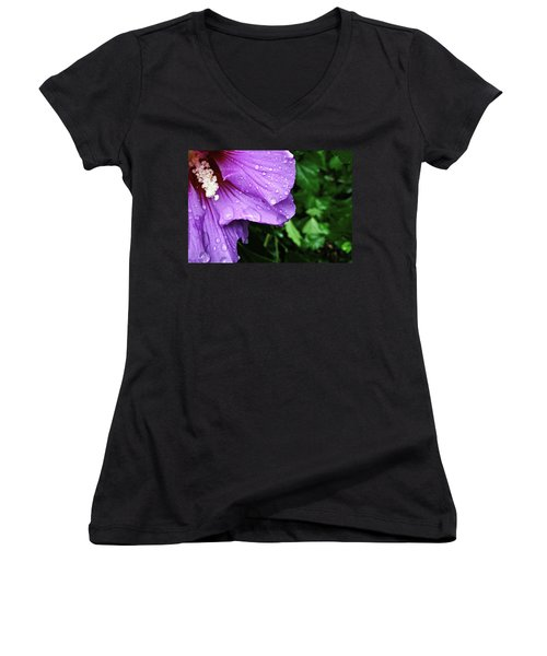 Women's V-Neck featuring the photograph Hibiscus Corner by Robert Knight