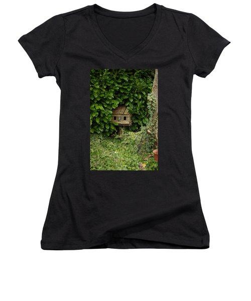 Hidden Birdhouse Women's V-Neck T-Shirt