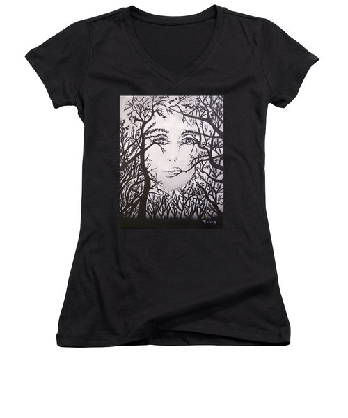 Hidden Face Women's V-Neck