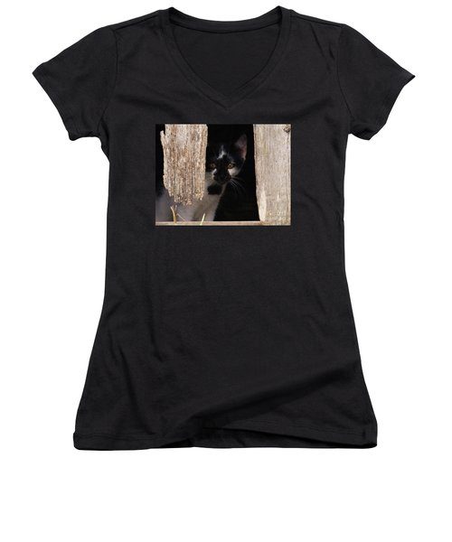 Hide And Seek Women's V-Neck (Athletic Fit)