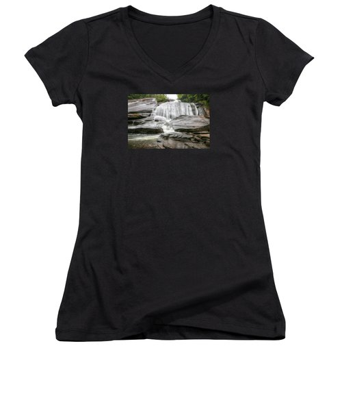 High Falls Of Dupont State Forest Women's V-Neck