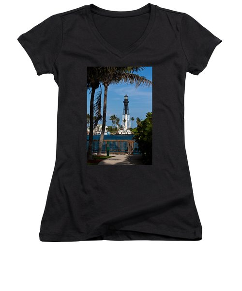 Hillsboro Inlet Lighthouse And Park Women's V-Neck (Athletic Fit)