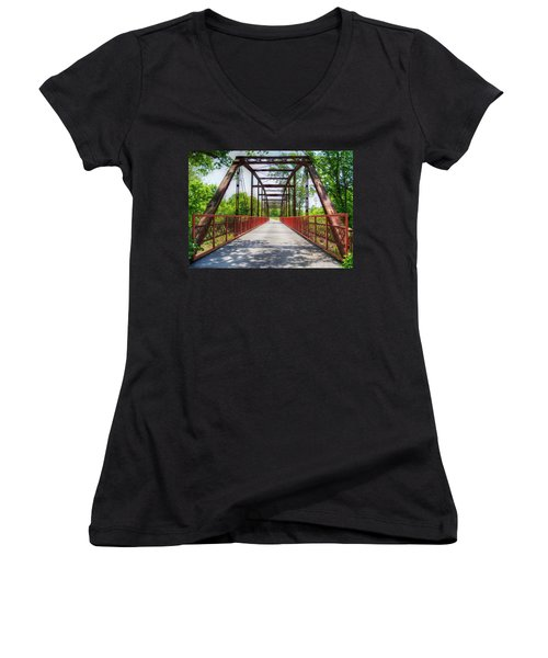 Hinkson Creek Bridge Women's V-Neck (Athletic Fit)