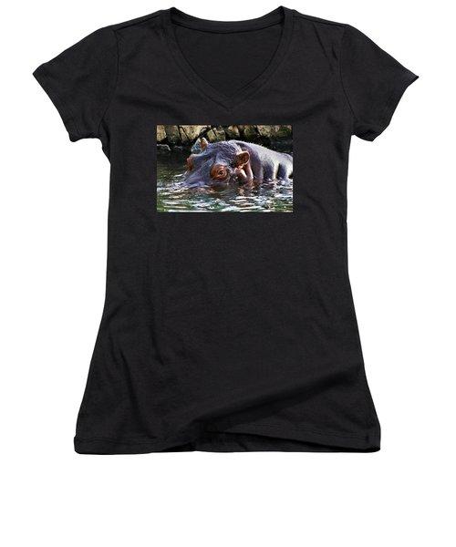 Hippo 3779_2 Women's V-Neck T-Shirt