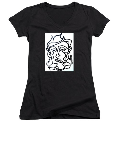 Hipster Painting  Limited Edition Print Women's V-Neck (Athletic Fit)